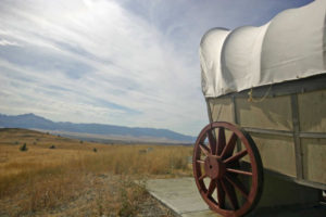 Covered wagon in Eastern Oregon