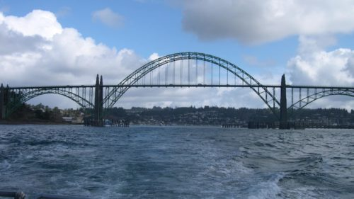 Yaquina Bay Bridge in Newport.