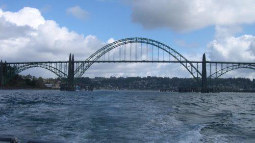 Yaquina Bay Bridge in Newport