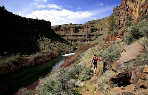 Hiking along the Crooked River (credit: Troy McMullin/Pacific Crest Stock)