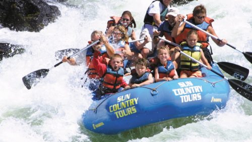 Riding the rapids on the Deschutes