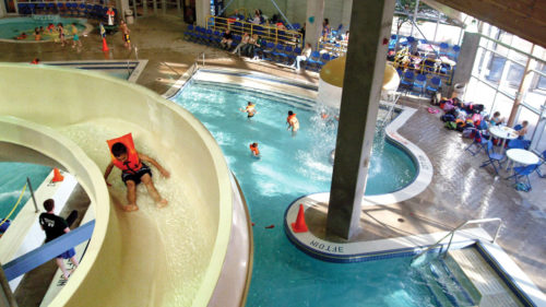 Find year-round fun at Splash! at Lively Park, a great way to tire out before hopping back in the car. Courtesy of Willamalane Park and Recreation