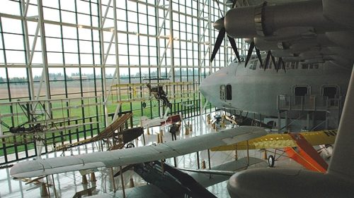 See the Spruce Goose at the Evergreen Aviation & Space Museum in McMinnville.