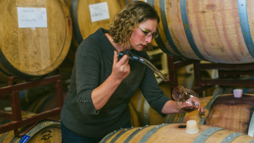 Like many Portland winemakers, Anne Hubatch has enjoyed the tight-knit collaboration and visibility the city has to offer. Courtesy of Helioterra Wines