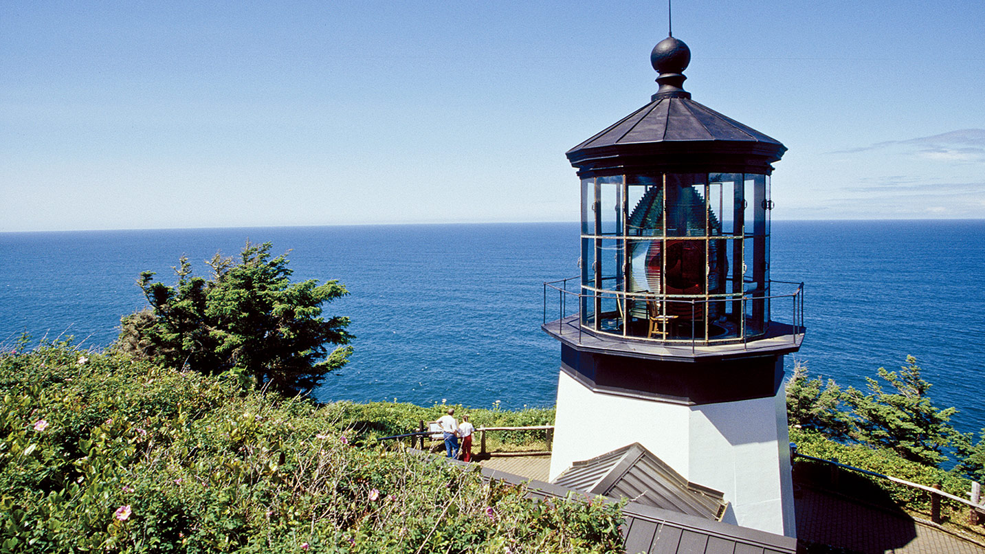 You can get up close to Cape Meares Lighthouse.