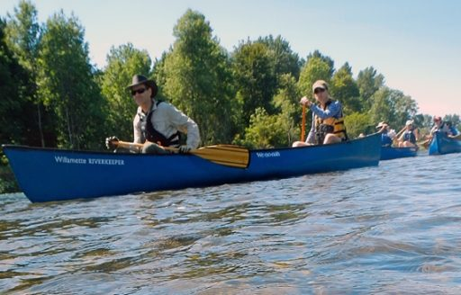 The Willamette Water Trail covers 187 miles as it winds its way north from Eugene to Portland.  (Photo credit: Willamette River Keeper)