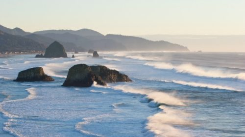 On a clear day at Ecola State Park, you'll look out over endless ocean along with Crescent Beach, Cannon Beach, Haystack Rock and Cape Falcon.