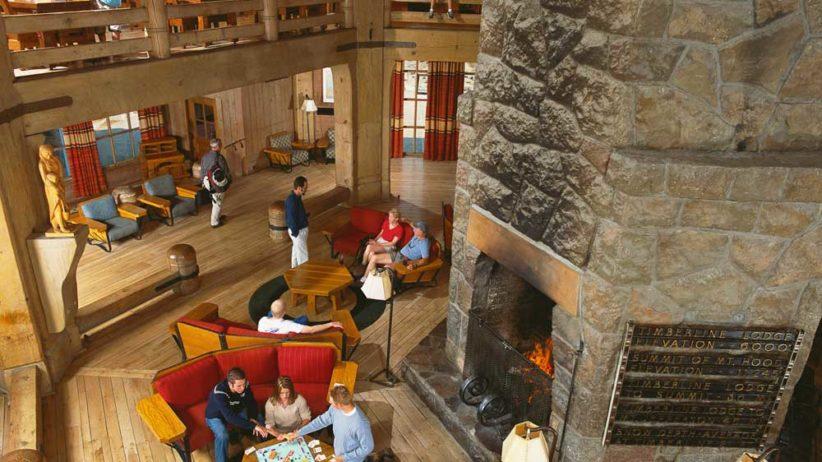 Timberline Lodge fireplace Mt. Hood Oregon