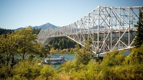 The Present Day Bridge Of S In Cascade Locks Photography By Lance Koudele
