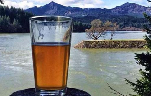 Try the crisp Kolsch at Thunder Island Brewing in Cascade Locks and watch the sailboats out on the water. (Photo credit: Seattle's Travels)