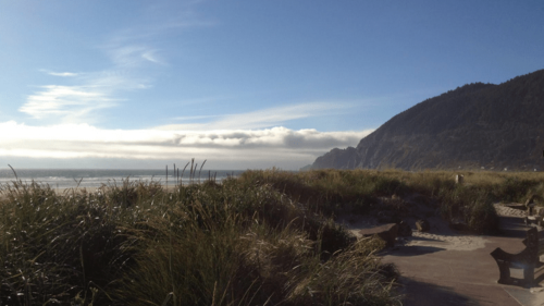 Manzanita is a lovely Oregon Coast town to visit any time of the year.  Activities center on seven wonderful miles of sandy beach. (Photo credit: Derek Reed)