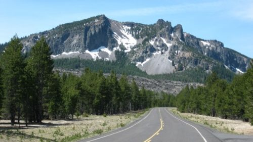 A view of Paulina Peak from the road