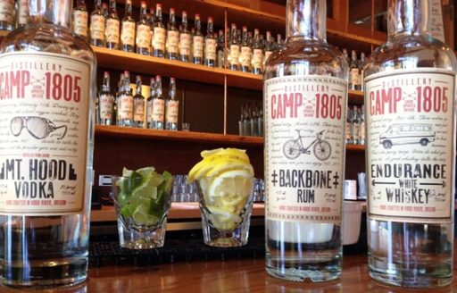 Located on Hood River's blossoming waterfront area, Camp 1805 Distillery is one of the first in the state that will feature a full bar. (Photo courtesy Camp 1805)