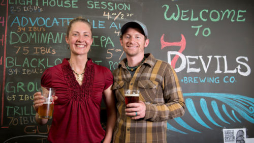 Coos Bay's 7 Devils Brewing Company celebrates its first anniversary this September. (Photo credit: Will McPherson)