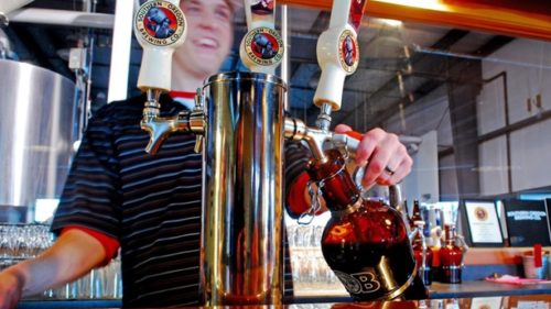 Check out the Wood Shed Red, Pin-up Porter and Old Humbug Winter Ale at Southern Oregon Brewing Company.