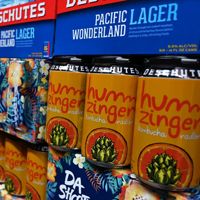 Deschutes Brewery collaborates with Humm Kombucha for a tangy grapefruit radler.