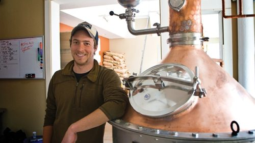 Mike Selberg recently won best in class from the American Distilling Institute for his amber rum, Donlon Shanks. (Photo credit: Coast Explorer Magazine)
