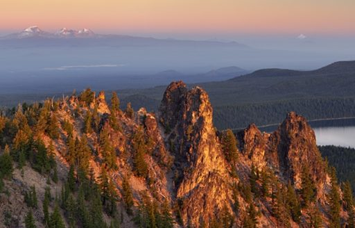 View from the Paulina Peak Observation Site by Dennis Frates