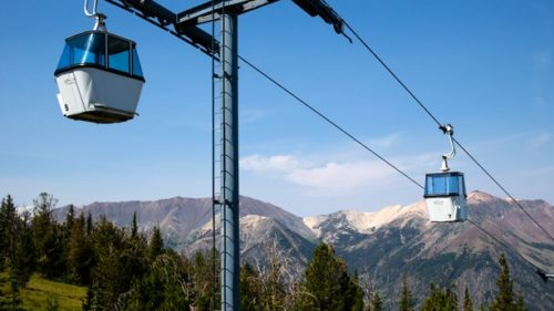 The Wallowa Lake Tramway provides views from great heights.  (Photo credit: Tyler Roemer)