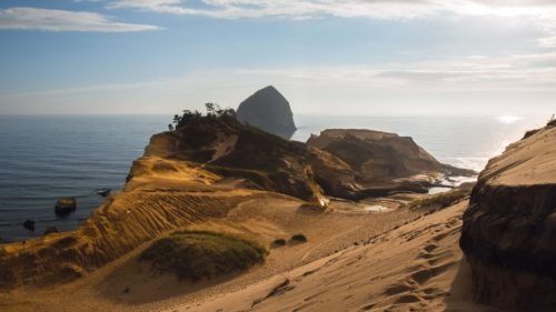 Bring your kite, your hang glider, your surf board or just your camera to Cape Kiwanda in Pacific City.  (Photo credit: Chantal Anderson)