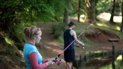 There are a multitude of things to do at Horning's Hideout. Fishing, disc golf, camping, picnics, and paddleboats are all part of the fun.