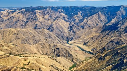 Hells Canyon National Recreation Area is the deepest river gorge in North America and includes more than 215,000 acres of wilderness. (Photo credit: View of the Snake River from Hat Point by Greg Vaughn)