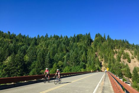 Crossing the Rogue River into Agness