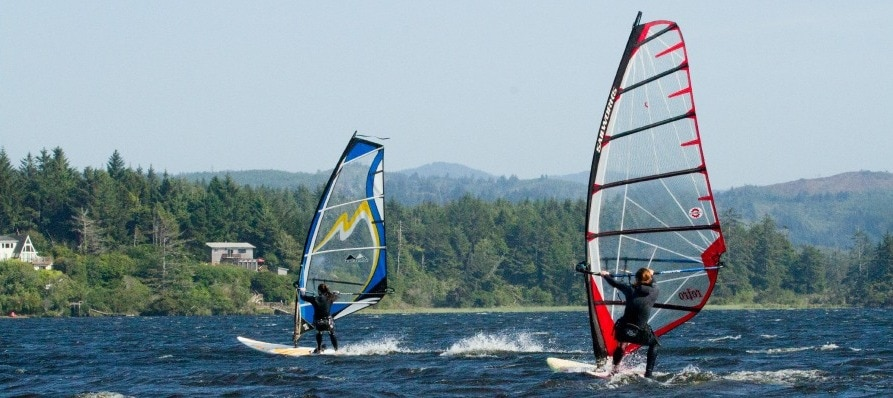 Floras Lake Windsurfing