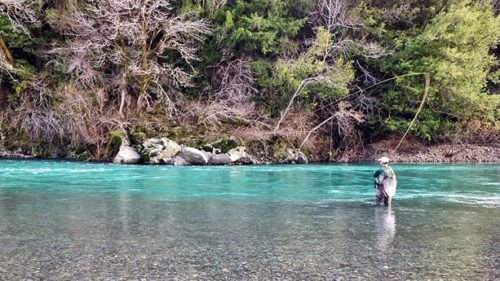 Oregon's best river fishing takes place in the winter. It's the best time of year to catch trophy-size salmon and steelhead. (Photo credit: Nickie Bournias)