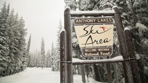 Located in the foothills of the Elkhorn Mountains, Anthony Lakes has a base elevation of 7,100 feet and sees an average snowfall of 300 inches per year. (Photo credit: Adam Clark)