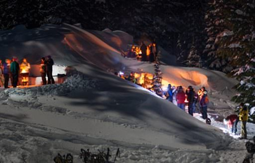 Wanderlust's wintertime offerings include daytime snowshoeing, moonlight snowshoeing and the snowshoe bonfire trip.
