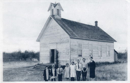 The old Camas School house, 1889