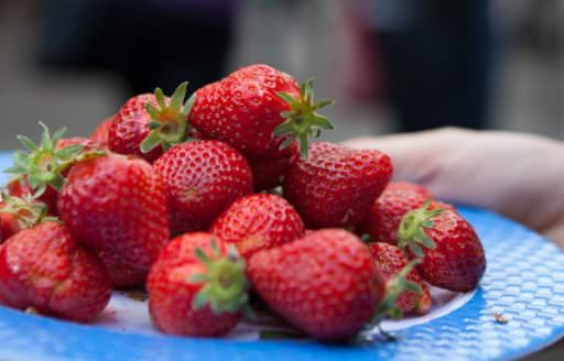 Fresh Oregon strawberries aren't just for shortcake. Toss them in a spinach salad, or a cold gazpacho, or in a pavlova meringue dessert. The Portland Farmers Market Cookbook has these recipes and more inspiration for your seasonal bounty.  (Photo by Alan Weiner)