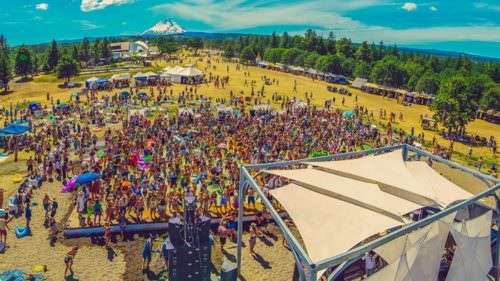 Watch legendary electronic artists at What The Festival while taking in a gorgeous view of Mt. Hood. (Photo credit: Daniel Zetterstrom)