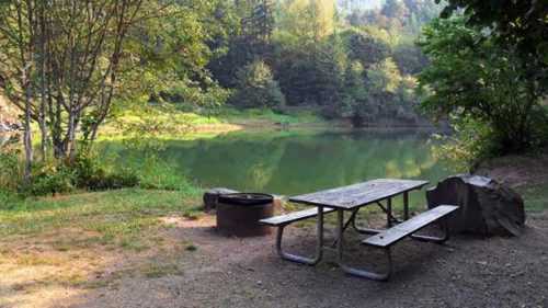 Fall Creek State Recreation Area offers private campsites, many with views of the lake for swimming and fishing aplenty. (Photo credit: Oregon State Parks)