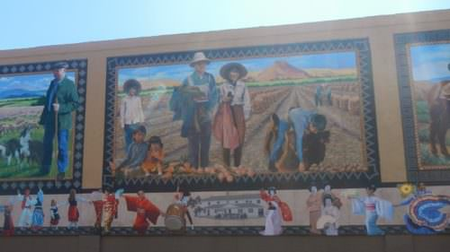 The murals on Court Street depict the rich cultural diversity in Vale's history.