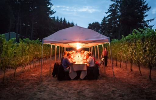 Field & Vine hosts six- to seven-course farm-to-table dinners that connect guests with local growers and producers. (Photo credit: Field & Vine)