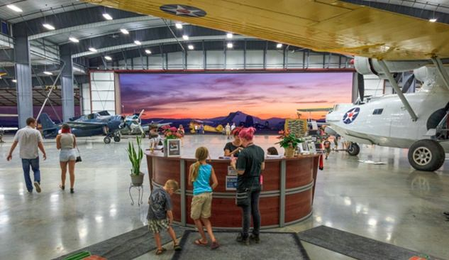Family begins their tour of the Erickson Aircraft Collection