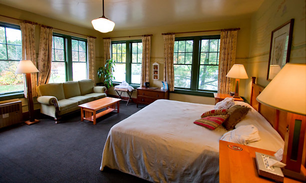 A hotel room at McMenamins Edgefield in Troutdale