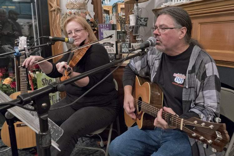 "Two Crows Joy perform during Saturday's ""Music Around Town"""