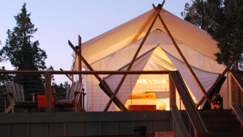 The luxury tents at Panacea at the Canyon in Terrebonne offer a truly indulgent escape. (Photo credit: Panacea Resort)