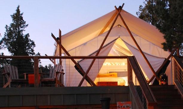 Luxury tent at Panacea Resort