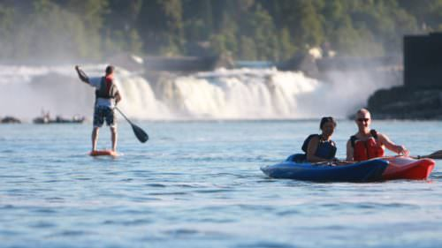 Check in with the folks in eNRG Kayaking to book a rafting trip or to rent a standup paddle board, sit-on-top, tandem kayak or canoe.