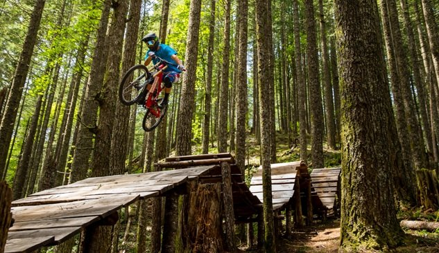 Mountain biker getting air at Black Rock Mountain