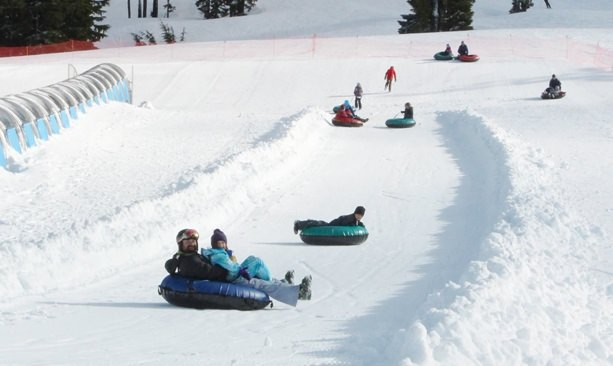 Tubers on Mt. Bachelor