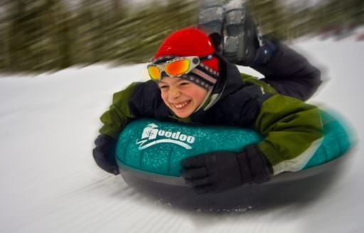 The 5-acre Autobahn Tubing Park at Hoodoo Ski Area has been a family favorite since opening in 2004. (Photo credit: Hoodoo Ski Area)