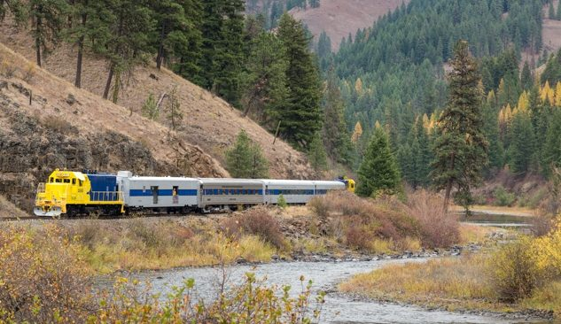 Eagle Cap Excursion Train in the Grande Ronde River Canyon in Northeast Oregon.