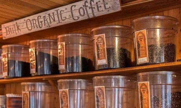 Organic coffee beans at Sleepy Monk