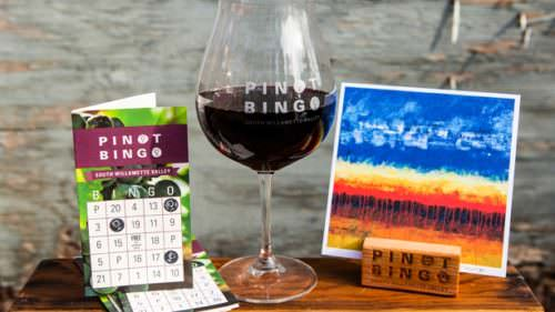 Pick up a Eugene Pinot Bingo card at participating tasting rooms or the Eugene, Cascades & Coast visitor center and start sipping. (Photo credit: Eugene, Cascades & Coast)