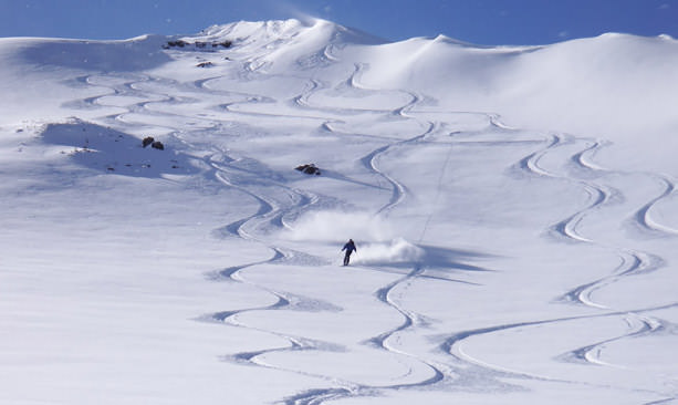The 9,838-foot summit of the Wallowas sees more than 400 inches of snow each winter